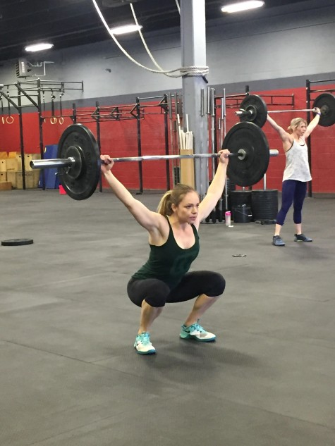 Krissy looking solid during her overhead squats. Welcome to Verve, Krissy!