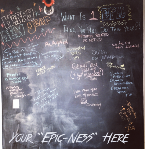 What are you up to this year?? We wanna know! Update the chalkboard next time you're in ;)