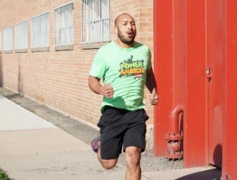 Eddie enjoying a nice run in the hot weather