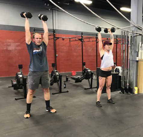 Put your hands up if you wish tomorrow was not Monday. Eric and Maddie getting through some DB thrusters.