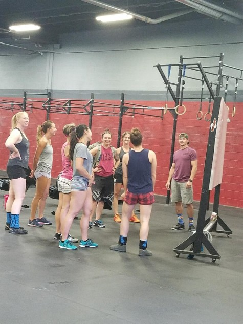 Clancy grossly out numbered by the ladies of the 4:30pm class.