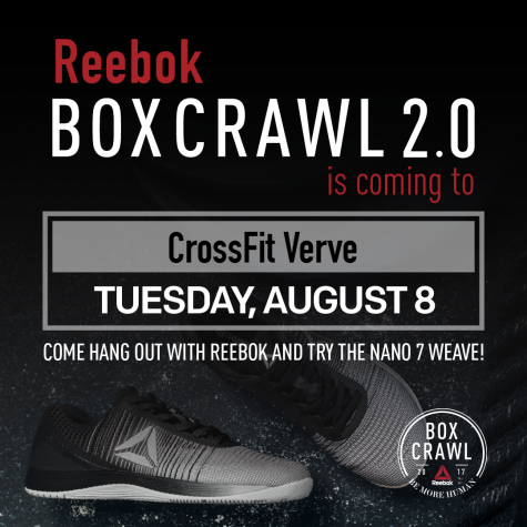 Reebok is coming to Verve tomorrow!!