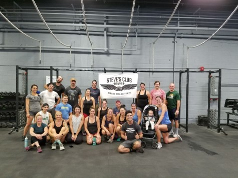 8am Saturday morning class working out for a cause, thank you Steve's Club for the awesome workout!