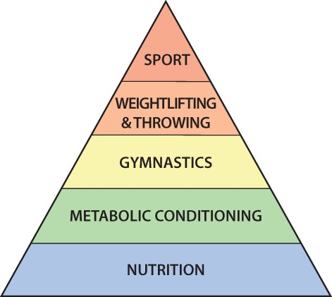 The theoretical hierarchy of the development of an athlete.