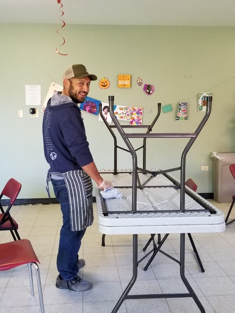 Eddie looking quite dapper while helping out at The Delores Project. Thanks for you help.
