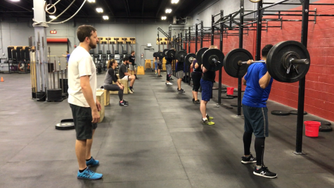 Squat party!! Partners anxiously waiting their turns for two minutes of max reps back squat.