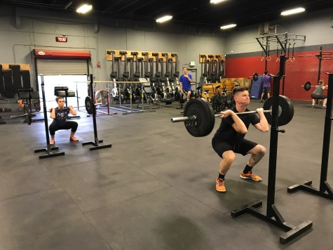 Sasha and Nate grinding through that awful two minutes of front squats.